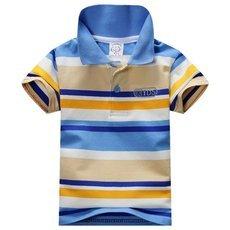Baby Boys Kid Tops T-Shirt Summer Short Sleeve T Shirt Striped Polo Shirt Hot