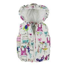 Autumn winter children clothes new girls Outerwear&Coats Animal Graffiti hooded Girls Vest Jackets