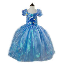 Free crown gift Newest movies cinderella dresses princess dress for girls costumes