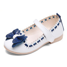 Girls Butterfly-Knot Leather Princess Shoe Girls dresses shoes
