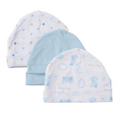 Character Unisex Cotton Fitted Baby Hats & Caps,infant Caps, 3 Pack