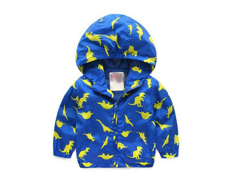 90-120cm Cute Dinosaur Spring Kids Jacket Boys Outerwear Coats Active Boy Windbreaker Cartoon Sport Suit For Children Kids (6)
