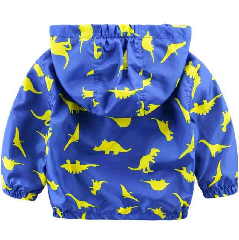 90-120cm Cute Dinosaur Spring Kids Jacket Boys Outerwear Coats Active Boy Windbreaker Cartoon Sport Suit For Children Kids (3)
