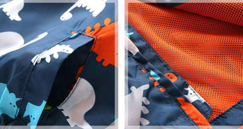 90-120cm Cute Dinosaur Spring Kids Jacket Boys Outerwear Coats Active Boy Windbreaker Cartoon Sport Suit For Children Kids (7)