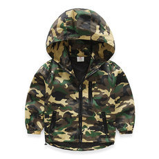 Baby boy spring camouflage coat hooded jacket male children long sleeved