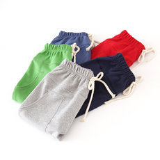 Size90~130 kids children pants for boys trousers pants candy solid colors