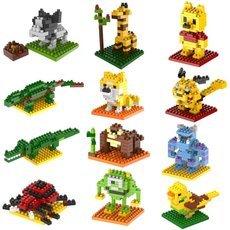 Building Blocks small Cartoon Characters 3D Bricks Toys