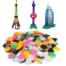 400PCs Multicolor Kids Snowflake Building Puzzle Blocks Educational Toys Bricks Assembling Classic Toy