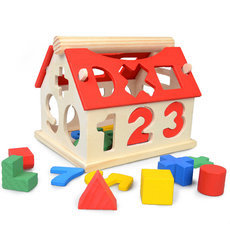 Number of children a little digital house childhood educational toys Building Blocks Toys