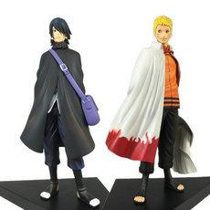 2Pcs/Lot 16CM Cartoon The Seventh Naruto Children Adult Naruto Uchiha Sasuke PVC Action Figure